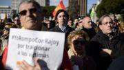 """Manifestation à l'appel des """"Victimes du terrorisme"""" (AVT) à Madrid en janvier 2015"""