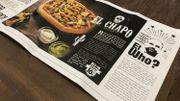 Publicité pour la pizza El Chapo