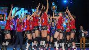Asterix Beveren est champion de Belgique de volley féminin pour la 13e fois