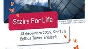 Stairs for Life: l'ascension de l'une des plus hautes tours de Bruxelles, pour la bonne cause
