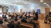 La grande salle d'audience peut accueillir des sessions de Cour d'Assises