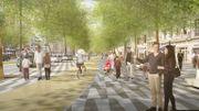 Une vue du futur boulevard de Waterloo.