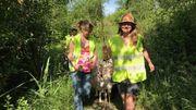 Les jeunes bergères éco-conseillères guident les boucs