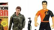 A gauche, GI Joe, à droite, Action Man.