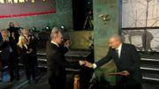Inauguration de la stèle par Vladimir Poutine, à Jérusalem