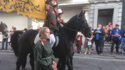 Des représentants de l'Ommegang ont fait le déplacement à Charleroi