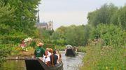 """Véritable patrimoine """"vert"""" d'Amiens : les 65 km de canaux jardins flottants en plein cœur d'Amiens !"""