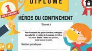 Les héros du confinement: un diplôme pour enfants à télécharger gratuitement