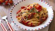 Recette : One pot pasta au chorizo et poivrons