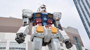 18 mètres de haut et 25 tonnes de métal: le robot japonais de la série Gundam fait ses premiers pas