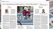 Êtes-vous pour une deuxième journée sans voiture à Bruxelles ? Réponse dans la revue de presse
