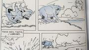 Sur les planches originales de 1930-1931, le bleu est un signal envoyé à l'imprimeur. Les premiers lecteurs, eux, découvrent Tintin au Congo uniquement en noir et blanc.