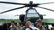 Des hélicoptères américains en transit sur la base de Chièvres