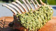 Gigot d'agneau en croûte d'herbes