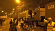 Recherche des auteurs d'un pillage de camion en marge d'une manifestation à Feluy