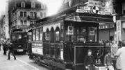 Un des premiers modèles de trams à traction électrique