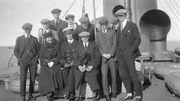 Les Canadiens sur leur bateau, en direction d'Anvers