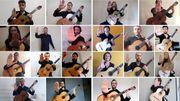 """L'ensemble de Guitares du Conservatoire Royal de Bruxelles et Hugues Navez nous offrent une vidéo """"porte-bonheur"""""""