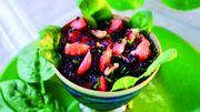 Recette: Salade de riz sauvage aux fraises