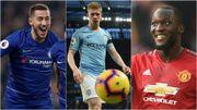 Les chiffres des Diables : Eden Hazard roi de Chelsea, Lukaku chaud bouillant, De Bruyne rechute