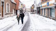 Rue verglacée à Dour (Hainaut), le 08 février