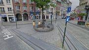 La statue doit se dresser devant le banc design de Lucile Soufflet.