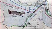 Le schéma du parcours du drone publié par le ministre iranien des Affaires étrangères, Javad Zarif.