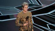 """Frances McDormand Oscar de la meilleure actrice pour """"3 Billboards, Les panneaux de la vengeance"""""""