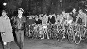 Le Grand Prix cycliste du Bois de la Cambre en 1960.