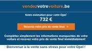 Voici l'estimation de Vendez Votre Voiture pour notre Opel Corsa