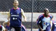 Zinedine Zidane et Claude Makelele avec les Bleus