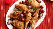 Recette de Candice : Poulet aux raisins et aux lardons
