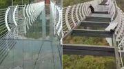 Chine: des panneaux de verre d'un pont tombent à cause du vent, un touriste a failli tomber de 100 mètres