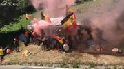 Les supporters belges mettent le feu dans l'Alpe d'Huez