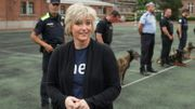 L'autrice de polars Karin Slaughter présente son dernier livre à la police fédérale belge