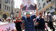 Des supporters de Mohamed Morsi manifestent pour sa libération, au Caire