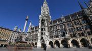 Grand Place de Munich (Bavière) vide, en mars 2020