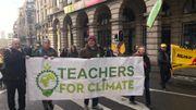 Les professeurs pour le climat font partie du cortège