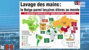 Lavage des mains : le Belge parmi les pires élèves au monde