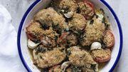Recette : poulet croustillant aux tomates confites