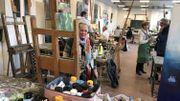 Un des ateliers de peinture de l'Académie des Beaux-Arts de Namur.
