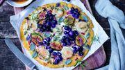 Recette: Muscat en tarte fine, chèvre et figues