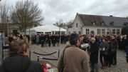 Commémoration de l'accident de train de Buizingen, à Halle, ce samedi 15 février 2014