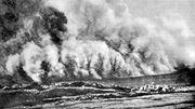 Attaque au gaz en 1916, dans la région d'Ypres.