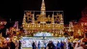 Hôtel de Ville de Vienne lors de la période de Noël
