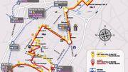 L'itinéraire des City-bus qui circulera à Charleroi dès le 13 mars. Cliquer sur la photo pour agrandir.