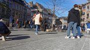 Des manifestants pacifistes étaient réunis à Namur
