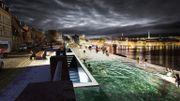 Un projet de piscine à débordement pour admirer Stockholm différemment