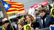 300 manifestants à Bruxelles en soutien aux indépendantistes catalans condamnés