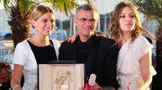 Lea Seydoux, Abdellatif Kechiche et Adèle Exarchopoulos